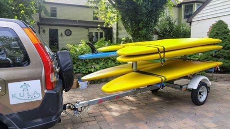 #USUPT4/8  4 PLACE SUP BOARD TRAILER OR 8 PLACE SUP BOARD TRAILER IF DOUBLE STACKED