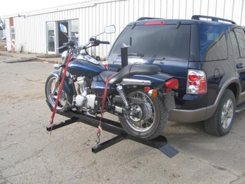 CARRY YOUR MOTORCYCLE FROM YOUR RECEIVER HITCH